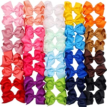 Baby Accessories Clothing, Shoes & Accessories Bright 40 Pieces 3 Inch Hair Bows Alligator Hair Clips For Baby Girls Toddlers In Pairs