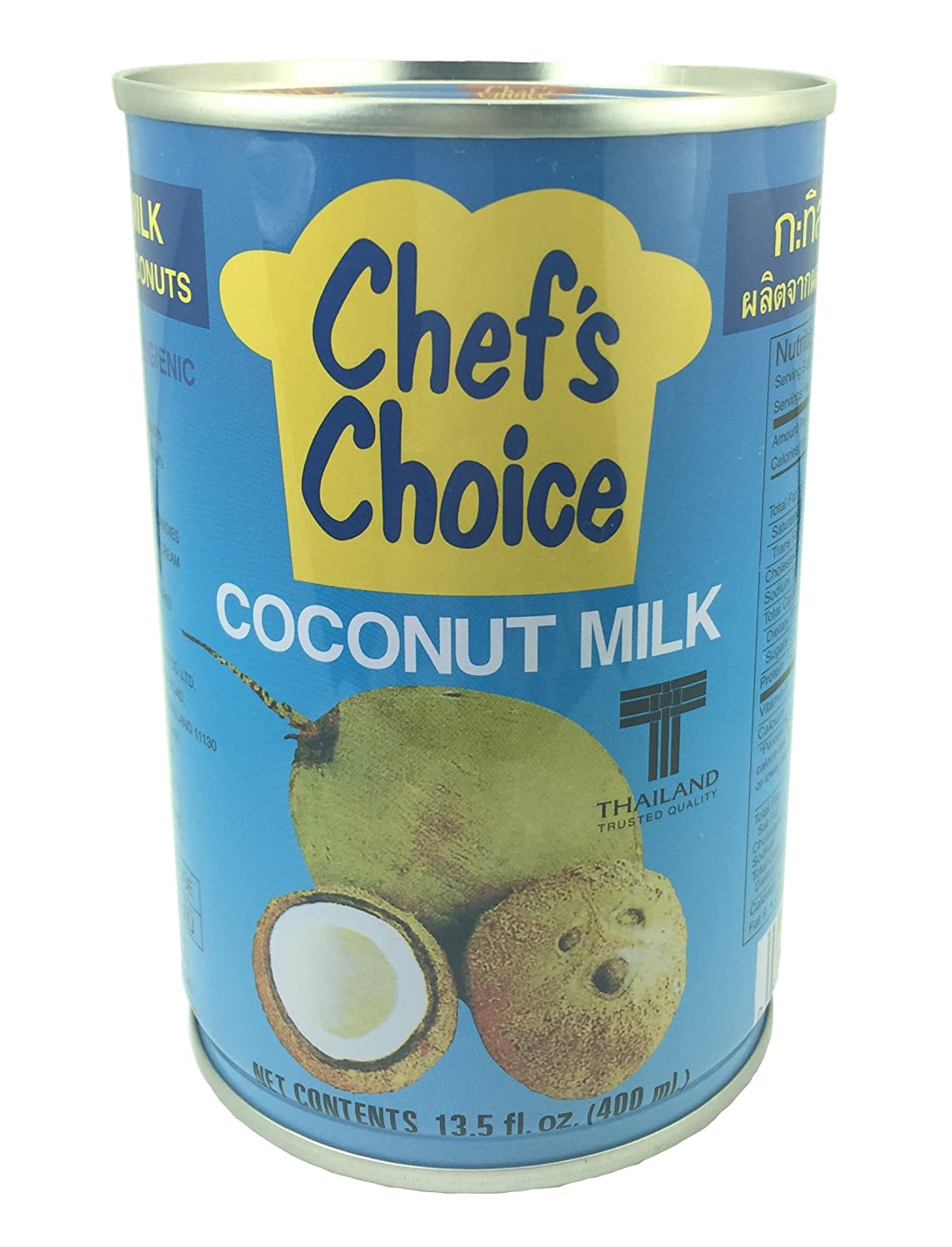 Amazon.com : Chef\'s Choice Coconut Milk 400ml (Pack of 6) : Grocery ...