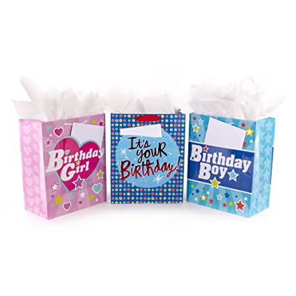 Amazon Hallmark Assorted Large Birthday Gift Bags With Cards