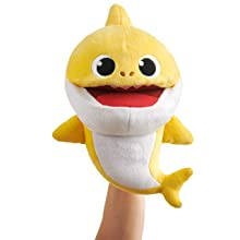 WowWee Pinkfong Baby Shark Official Song Puppet with Tempo Control - Baby Shark - Interactive Preschool Plush Toy