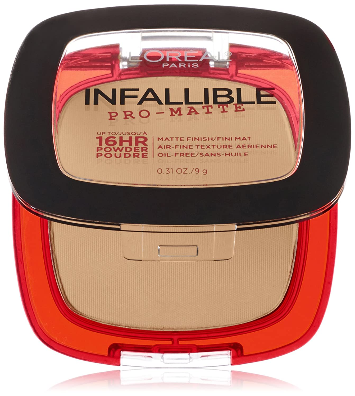 L'Oreal Paris Infallible pro-matte powder foundation, natural beige, 9g, Brown L'Oreal Paris Cosmetics K1831200