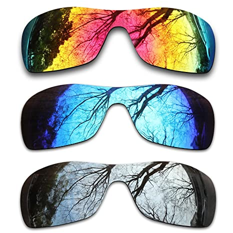 71eda8d315 Image Unavailable. Image not available for. Color  ToughAsNails 3 Pair Polarized  Replacement Lenses for Oakley Antix ...