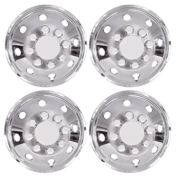 UKB4C 4x Chrome 16 Inch Extra Deep Dish Van Wheel Trims Hub Caps For Daily