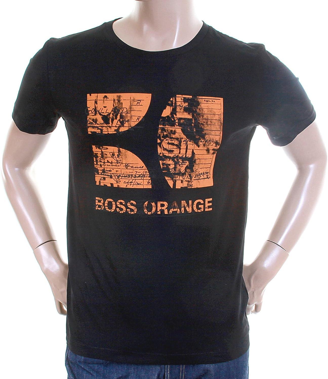 Hugo Boss Garçon/'S T-shirt à encolure ras-du-cou-Noir