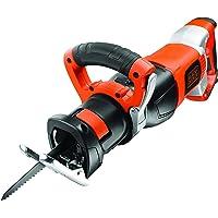 BLACK+DECKER RS1050EK-QS Scie sabre filaire - 1050W - 6 vitesses : 800 à 2400 courses/min - longueur de course : 28 mm - Poignée ajustable - Accessoires 3 lames - Livrée en coffret