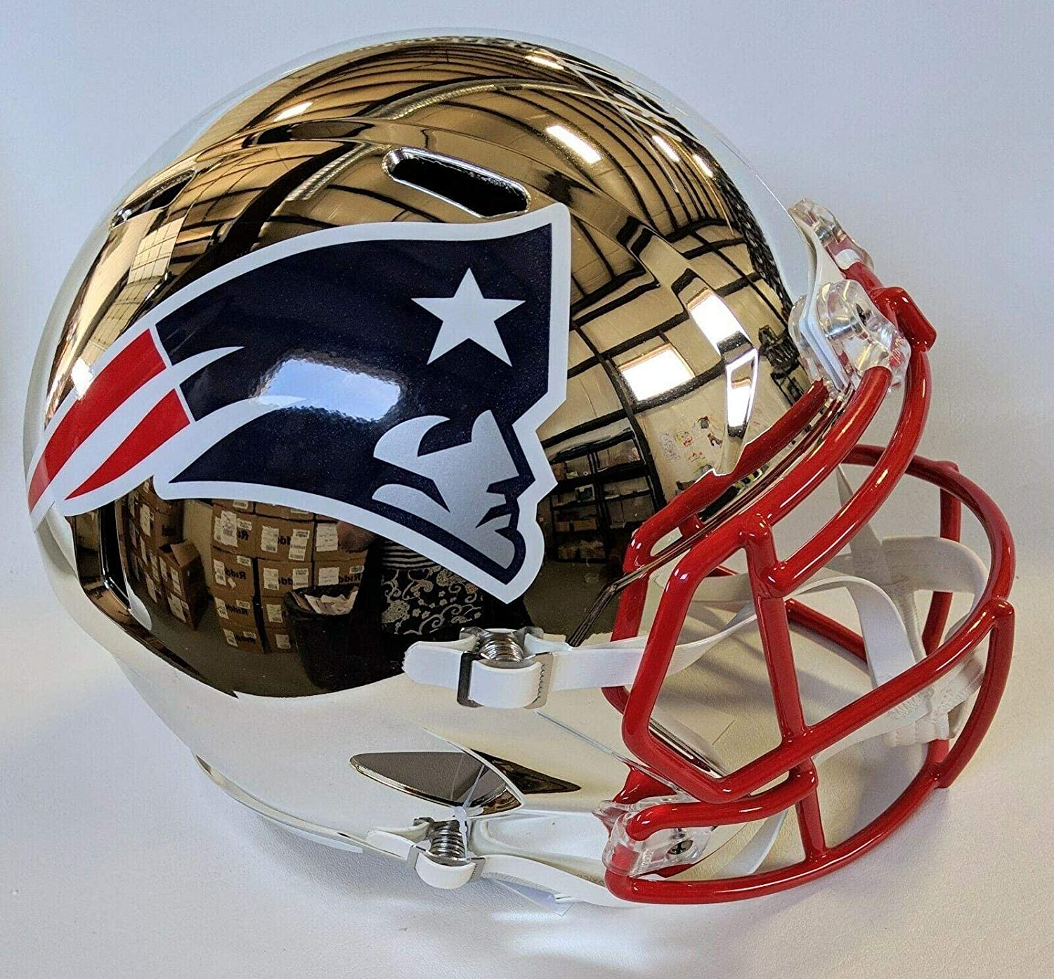 e67fe1aa Amazon.com: Ty Law Signed Helmet - Chrome Speed Replica F s W insp &  Beckett Coa - Beckett Authentication - Autographed NFL Helmets: Sports  Collectibles