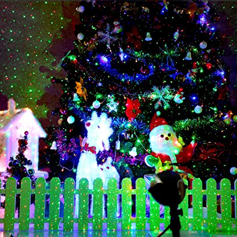 1byone Christmas Outdoor Laser Light Projector With Wireless  - Christmas Lights Photos