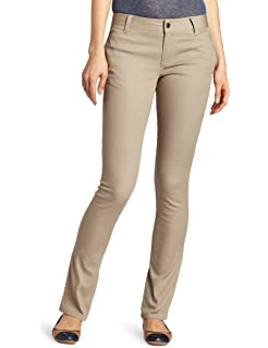 5f877ebb27 Classic Stretch Knit Skinny School Pants in Khaki (Plus S-3XL) at ...