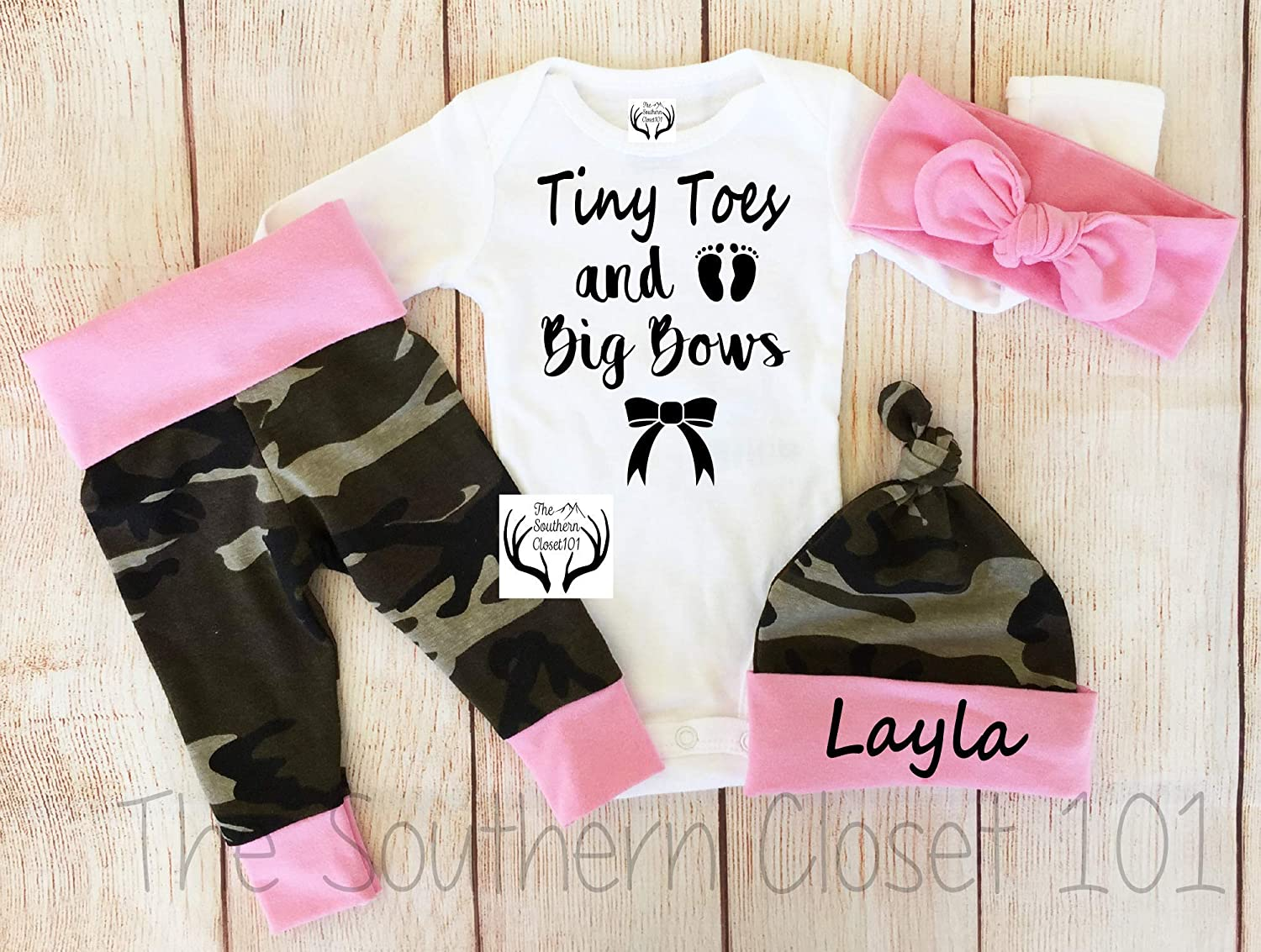 Coming Home Outfit Summer Girl Outfit Big Bows and Tiny Toes Coral and Peach Floral Baby Girl Outfit Boho Floral Spring Girl Outfit