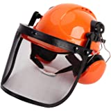 TODOCOPE Chainsaw Safety Helmet with Face Shield and Ear Muffs,Chainsaw Helmet,Safety Helmet,Mesh Face Shield