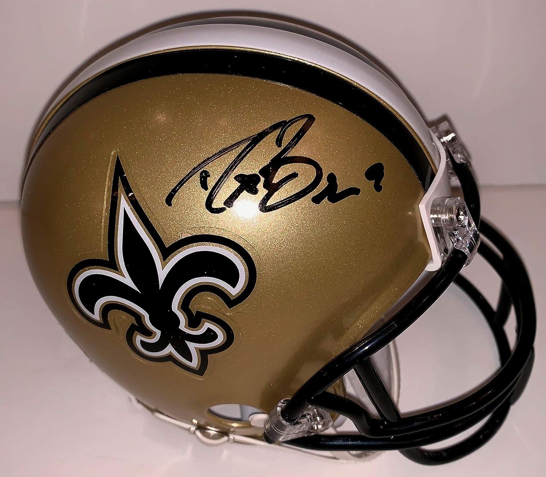 920710602 Amazon.com  Drew Brees Signed Mini Helmet  Sports Collectibles