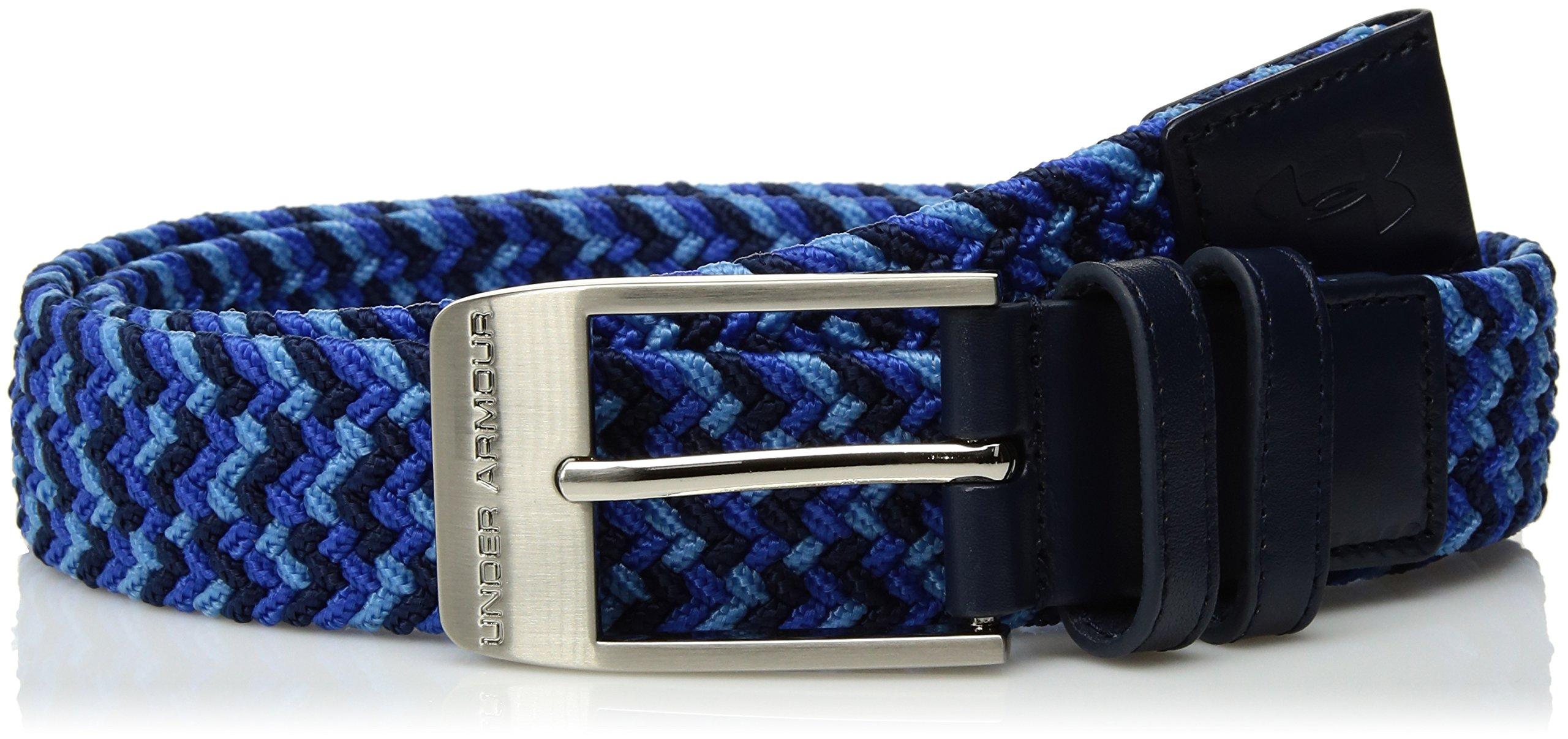 Under Armour Men's Braided Belt, Academy (414)/Ultra Blue, 38