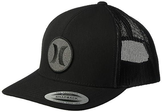 pretty nice b585e 7d608 Hurley Men s Black Textures Patch Trucker Baseball Cap, Black Black  Ripstop, One Size