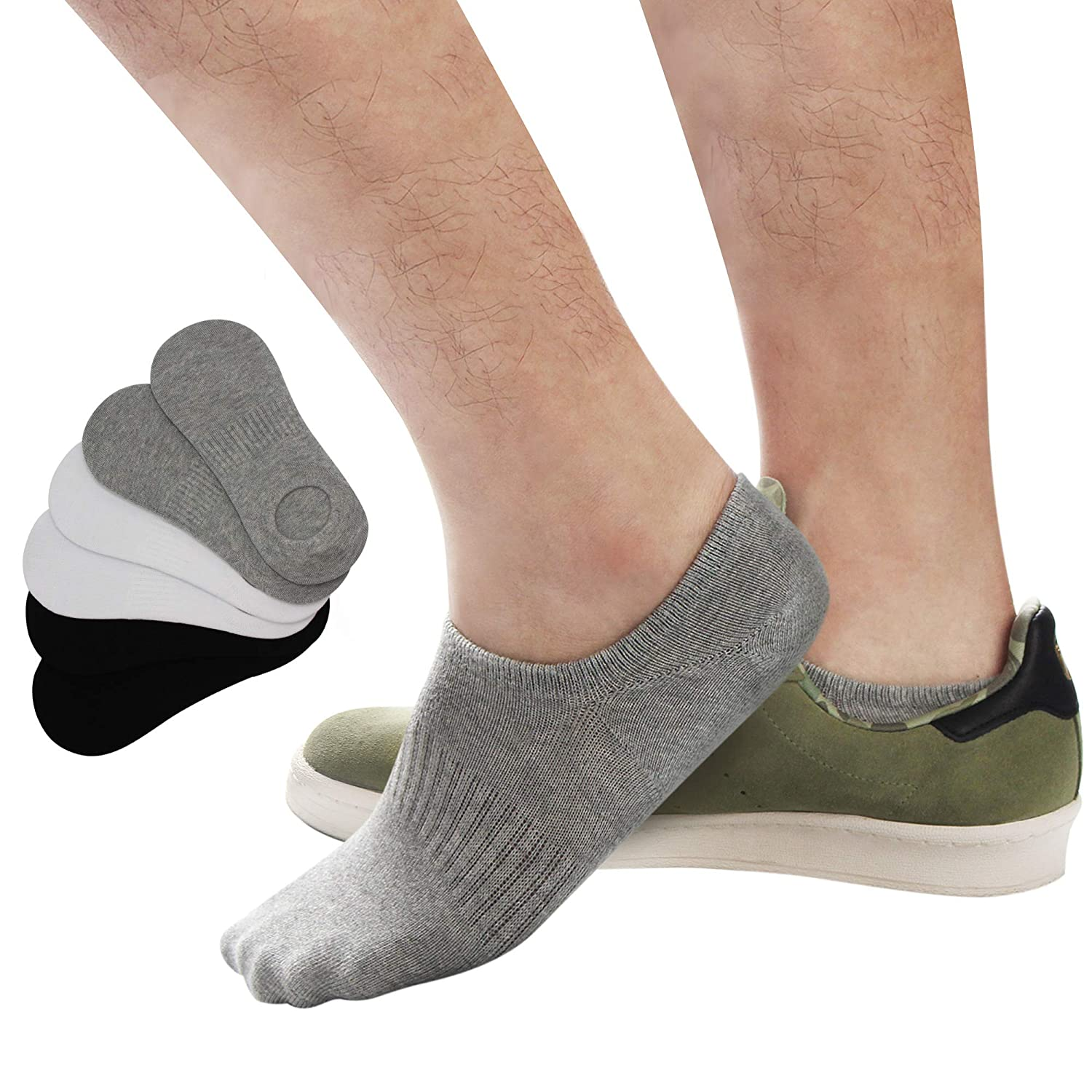 latest many styles lace up in No Show Socks Athletic,Men Running Socks Sox Low Cut Casual Cotton Socks  Thin Invisible Non-Slip Socks,Odor-Resistant Breathable Soft Low ...
