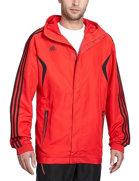 Adidas - Chaqueta de fútbol sala para hombre, tamaño M, color rojo: Amazon.es: Ropa y accesorios