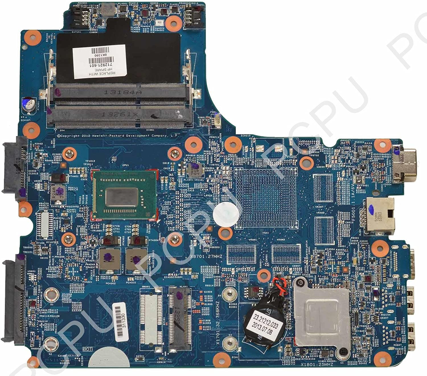 712921-601 HP 4440s 4540s Laptop Motherboard w/Intel i3-3110M 2.4Ghz CPU