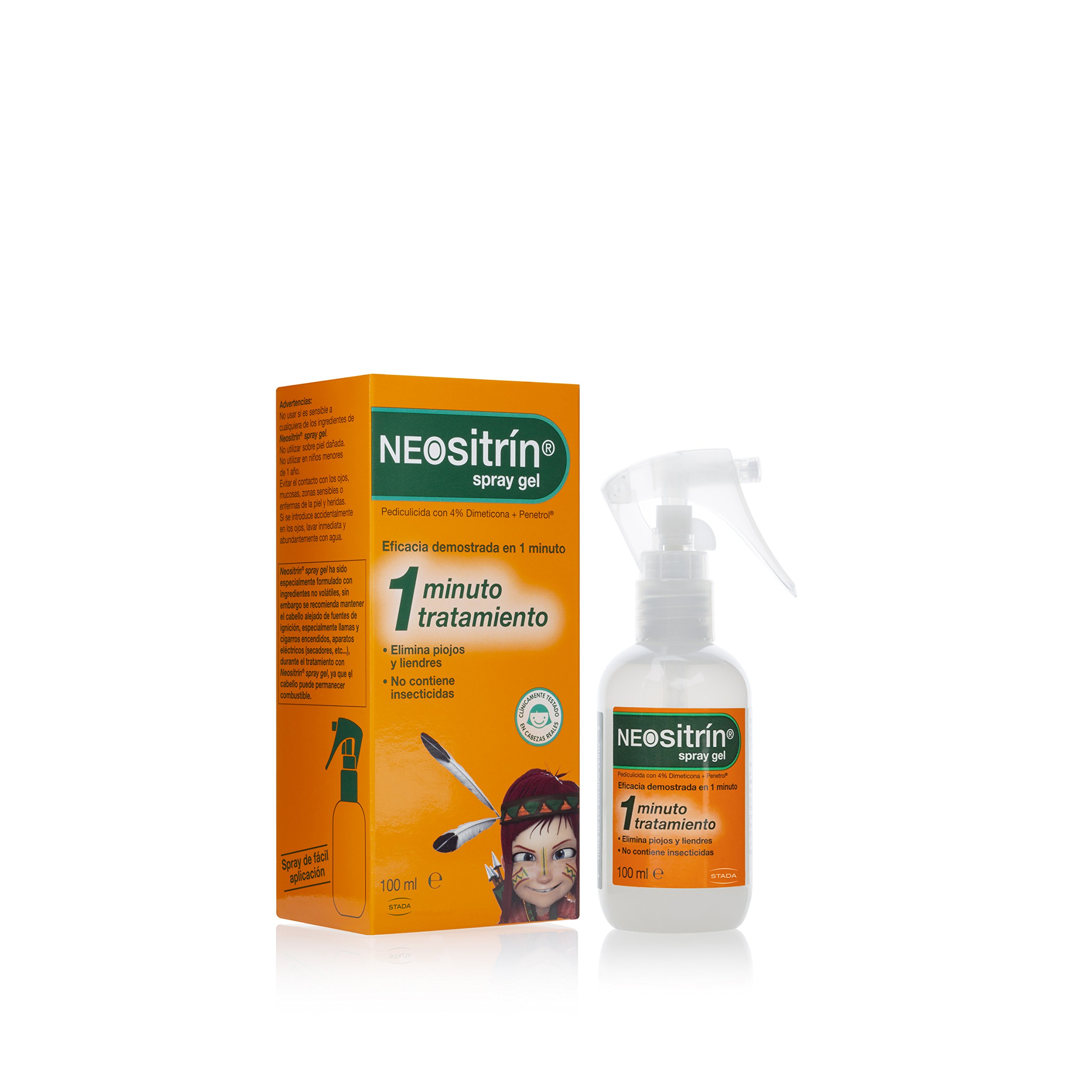 Neositrín - Spray Gel, Tratamiento para Eliminar Piojos y Liendres - [ 100ml ] product