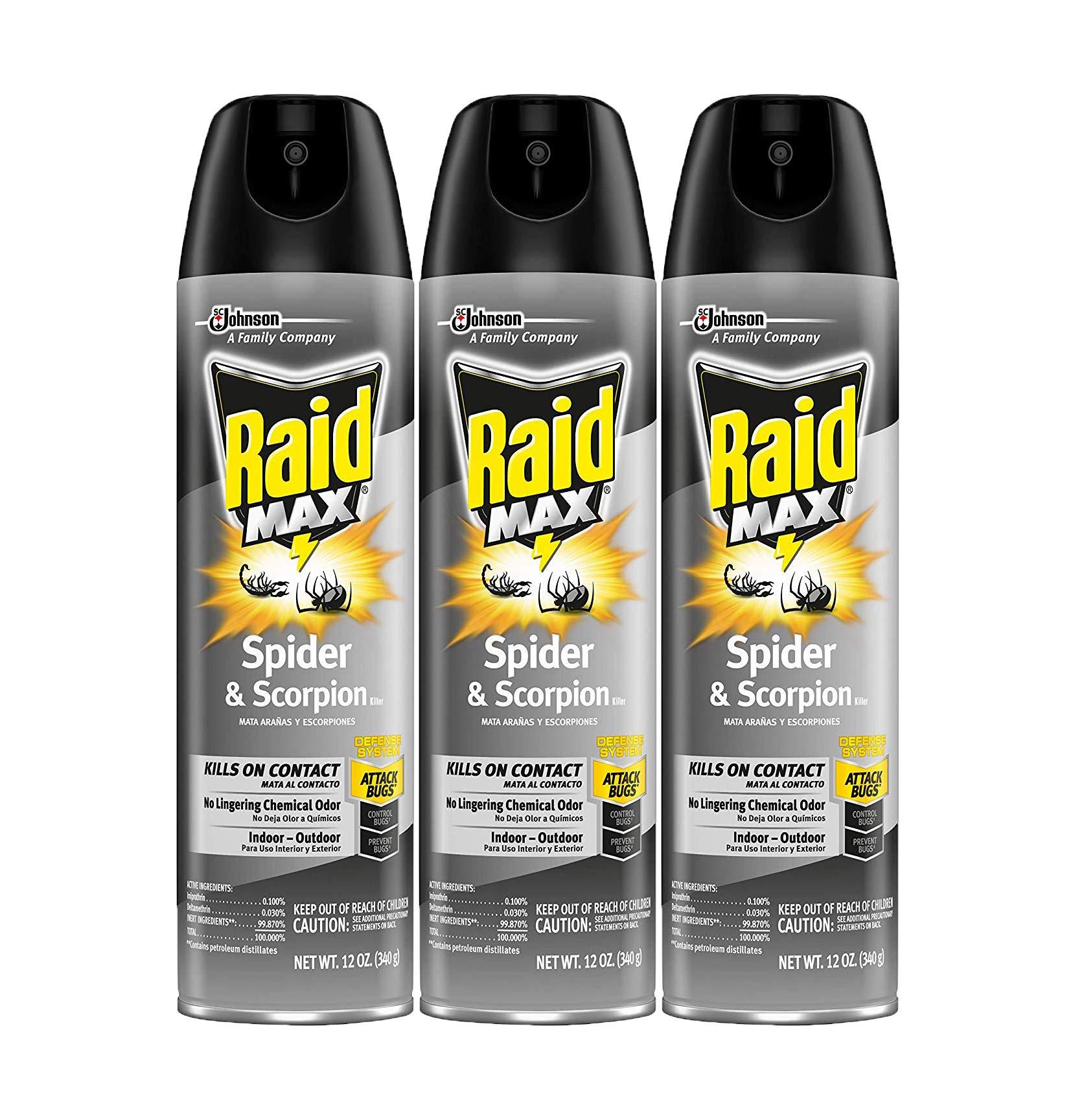 Raid Max Spider & Scorpion Killer, 12 OZ (Pack - 3) by Raid