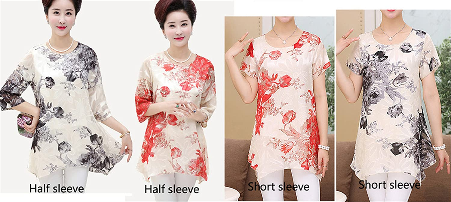 Amazon.com: New Summer Vintage Floral Woman Shirts Plus Size 5XXXXXL,4XL Femme Blusas Femininos Red Black: Clothing