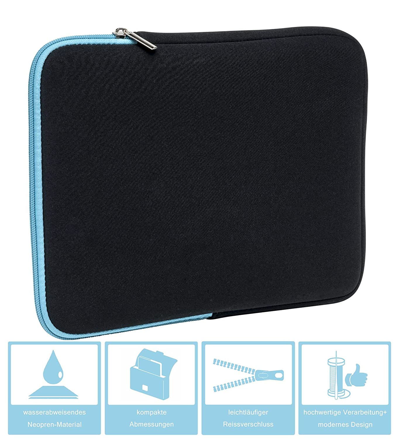 TURQUOISE//BLACK Bag Protective Cover made of neoprene 7th Generation - 2017 Slabo Tablet Case Cover for  Fire HD 8 Kids Edition