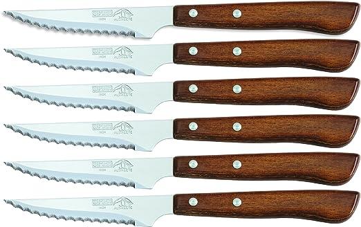 Sonpó Online - Modelo 6CCHM - Pack de 6 cuchillos chuleteros de ...