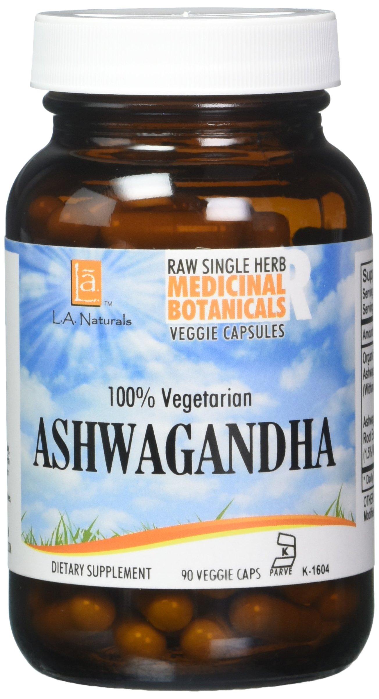 L A NATURALS Ashwagandha 90 Vgc, 0.02 Pound