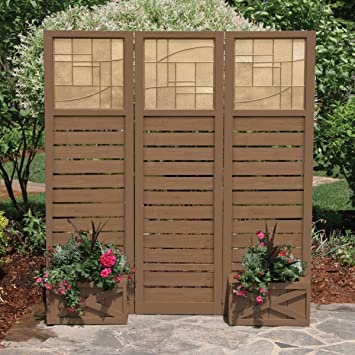 Amazoncom Yardistry Garden Screen with Planter Boxes Patio