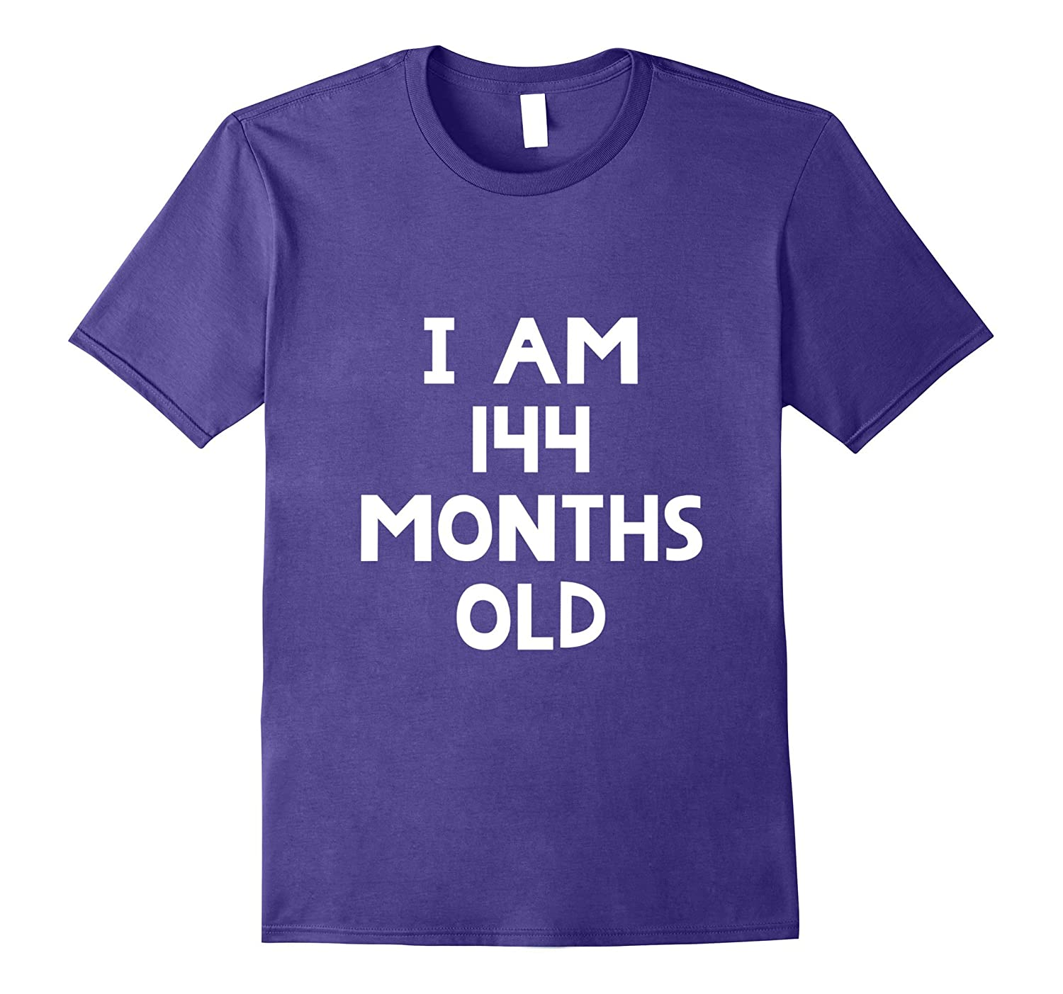 12th Birthday T-Shirt I Am 144 Months Old Funny Gift-Art