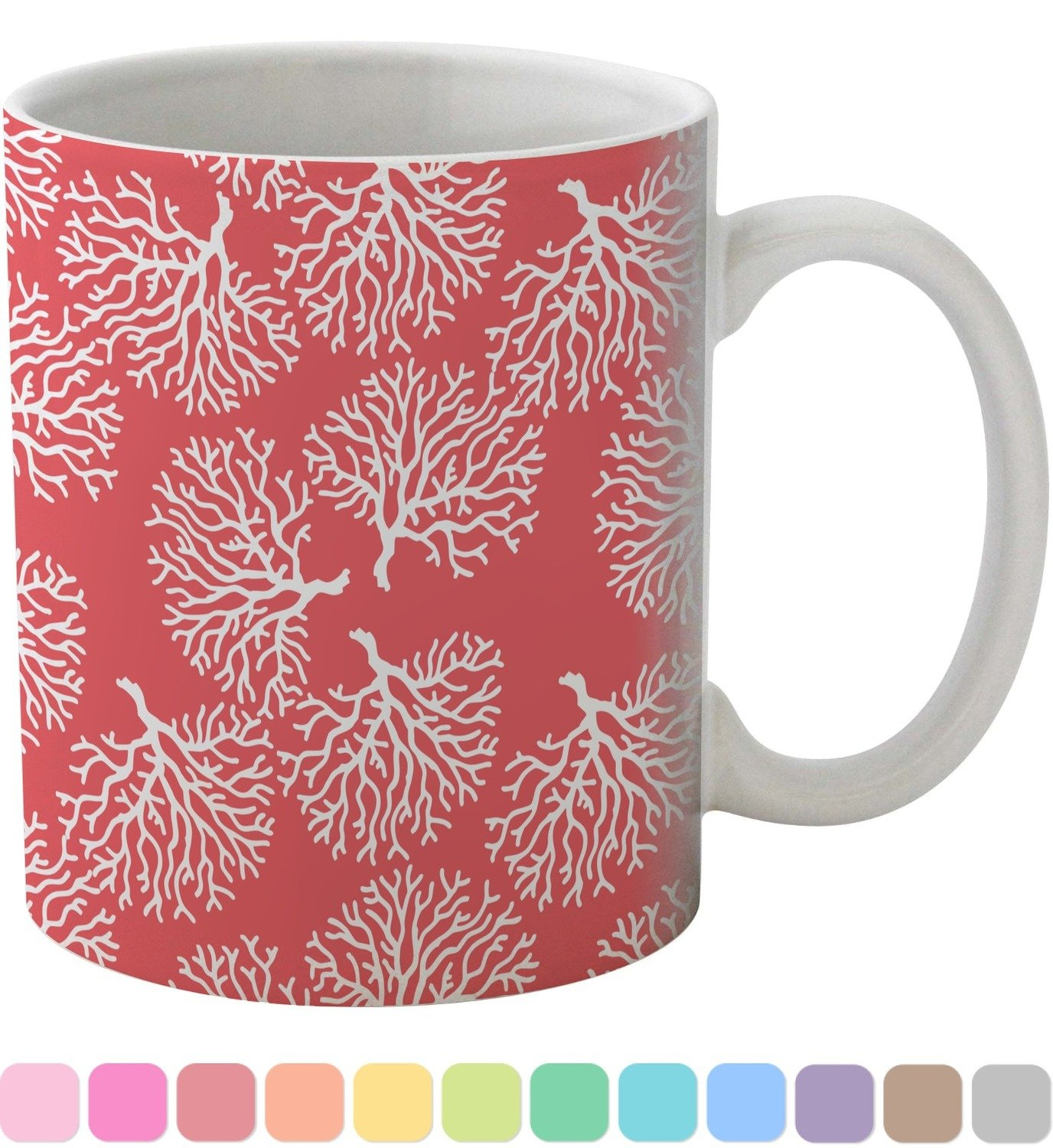Amazon.com: Coral & Teal Coffee Mug (Personalized): Kitchen & Dining