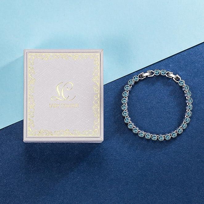 蓝色施华洛世奇水晶制作手链仅 $29.99