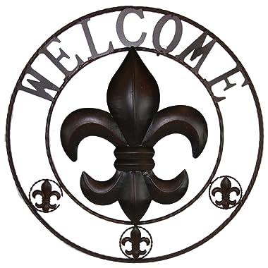 LL Home Fleur-de-lis Welcome Circle