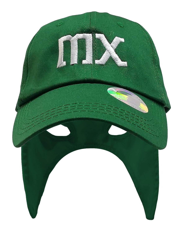 México gorra Mascara de futbol. México fútbol sombrero. mexicano lucha libre mask Cap, Verde: Amazon.es: Deportes y aire libre