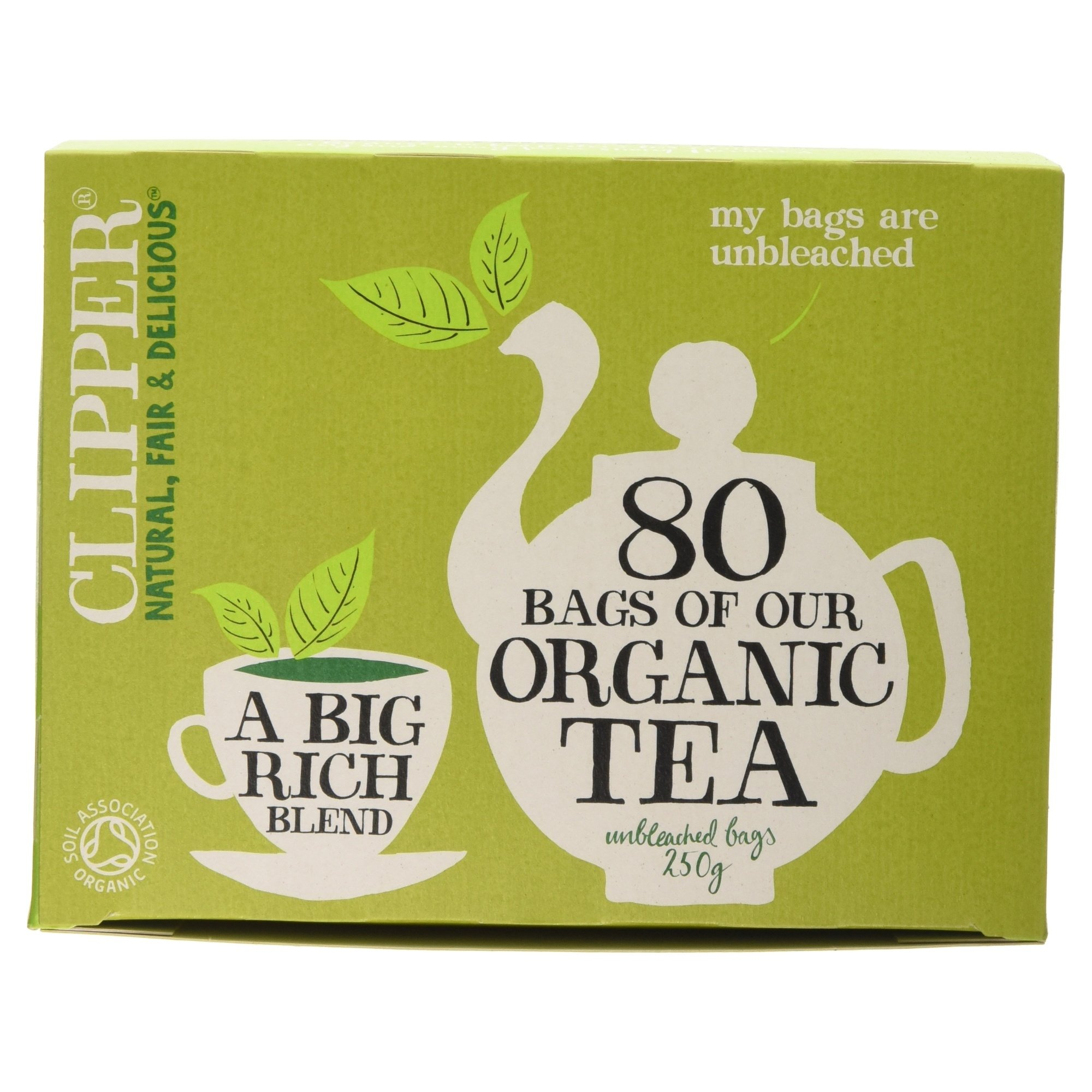 clipper teas 20 unbleached bags of organic. Black Bedroom Furniture Sets. Home Design Ideas