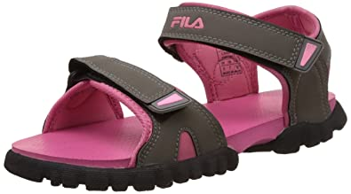 da254b82c Fila Women s Charmi Light Grey and Light Pink Fashion Sandals -6 UK India (