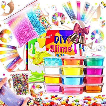 Kids Art Craft Slime Supplies Slime Making Kit for Girls Boys Crystal Clear Slime Glitter Slime Kit Unicorn Slime Charms