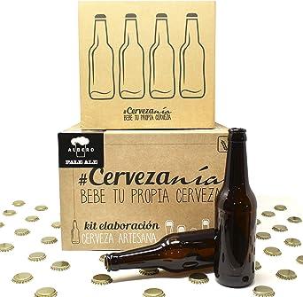 Pack completo para elaborar cerveza en casa | Kit Pale Ale y 16 Botellines con 100 chapas | Kit todo grano | Lúpulo fresco: Amazon.es: Alimentación y bebidas