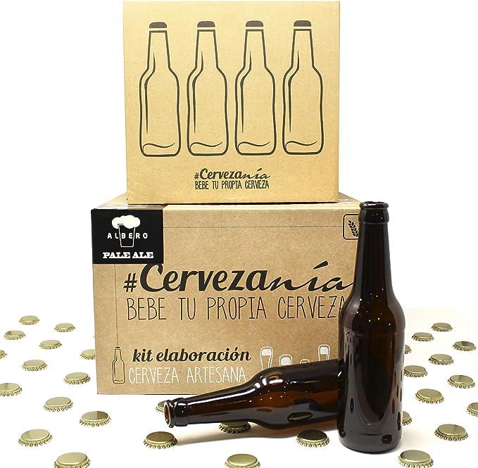 Pack completo para elaborar cerveza en casa   Kit Pale Ale y 16 Botellines con 100 chapas   Kit todo grano   Lúpulo fresco: Amazon.es: Alimentación y bebidas