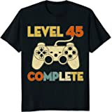 Level 45 Complete 45th Birthday Funny T-Shirt