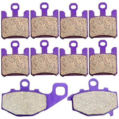 ECCPP FA369/4 FA192 Brake Pads Front and Rear Carbon Fiber Replacement Brake Pads Kits Fit for 2003-2006 Kawasaki ZX 6 RR,2003-2007 ZX 6 R (ZX 636 B1/B2/C1/C6F/D6F),2004-2006 ZX-10 R: Automotive
