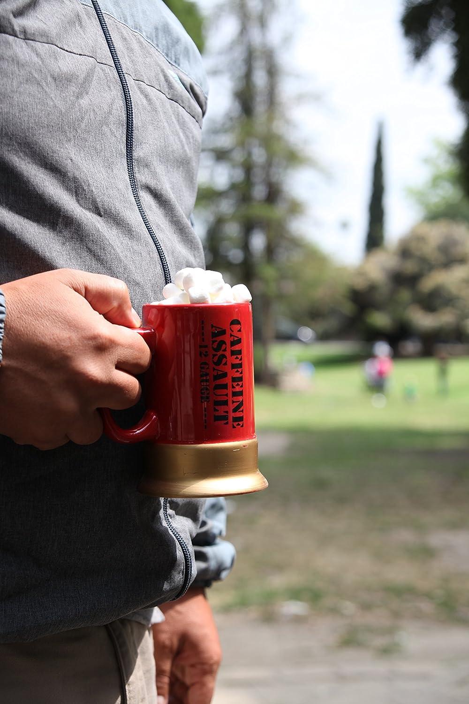 Direct CBG-1008 Red Pro-Motion Distributing Caliber Gourmet Caffeine Assault Mug 12 Gauge