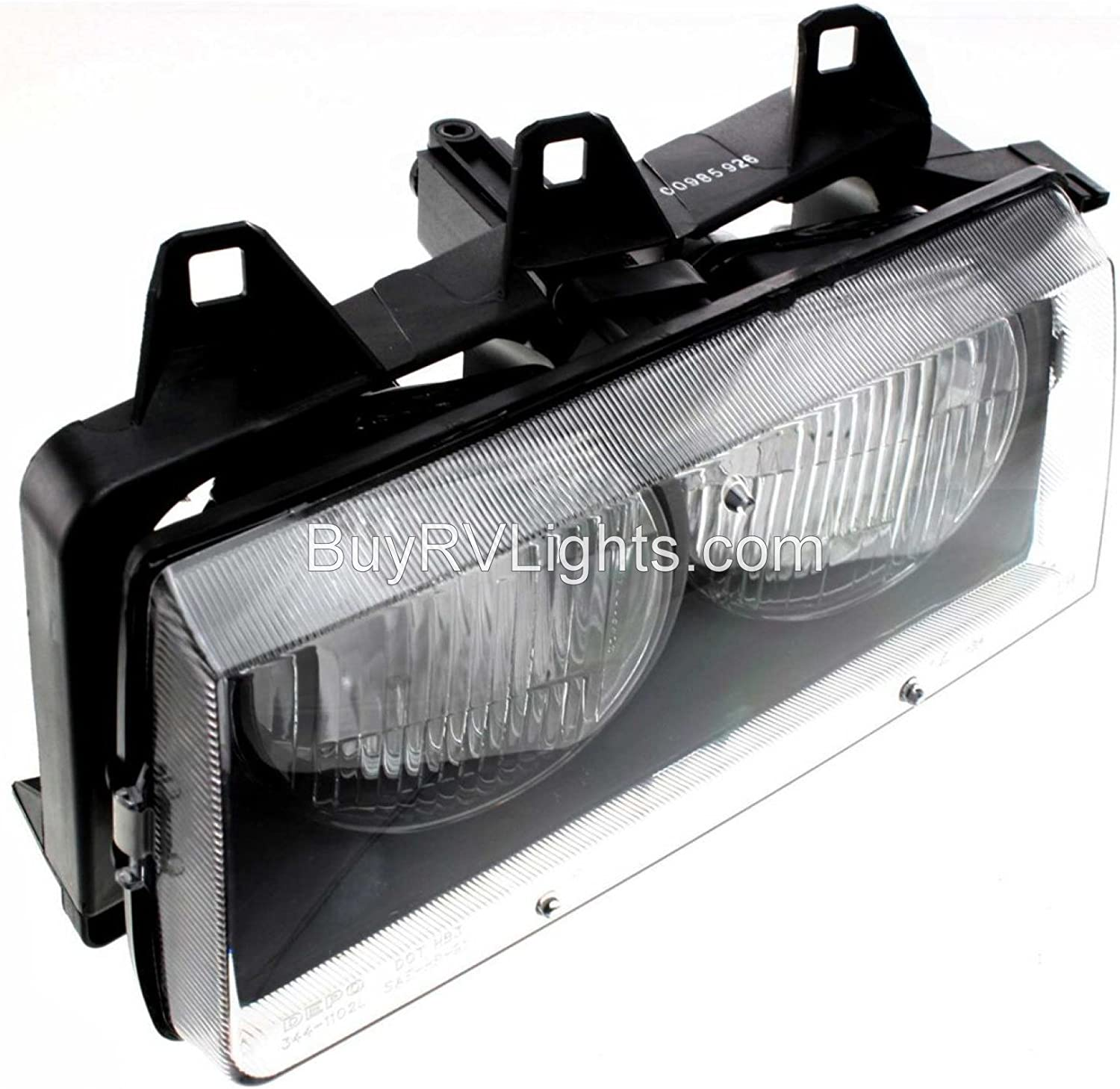Replacement Headlight Head Light Front Lamp with Bulb Driver Fleetwood Expedition 2000-2005 RV Motorhome Left