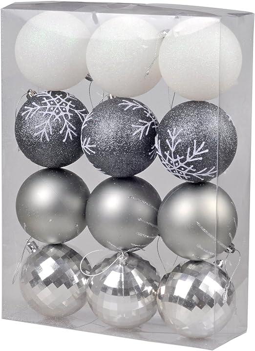 KI Store Pack de 24 pcs Pintura Adornos de Bolas de Navidad ...