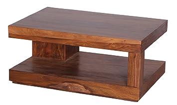 WOHNLING Couchtisch WL1219 Massiv Holz Sheesham 90 Cm Breit Wohnzimmer