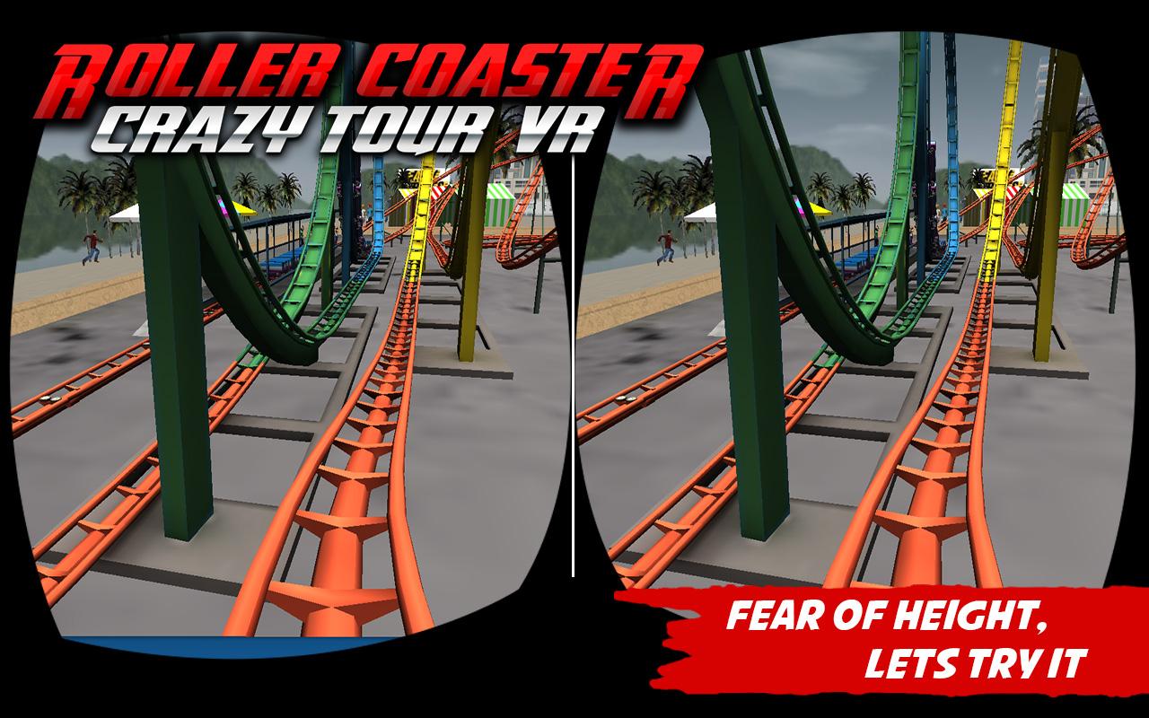 Crazy Roller Coaster VR Tour