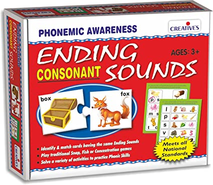 Creatives Ending Sounds Consonants Plastic Box Multi Color