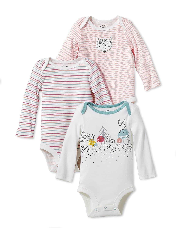 Lamaze Organic Baby Baby Organic 3 Pack Longsleeve Bodysuits