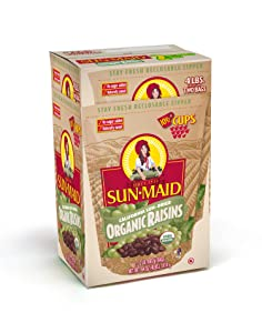 Sun-Maid Organic Raisins - Dried Fruit Snacks Healthy snacks for kids - 64oz (Split Into 2 Resealable Bag of 2 LBS Each, Total of 4 LBS)