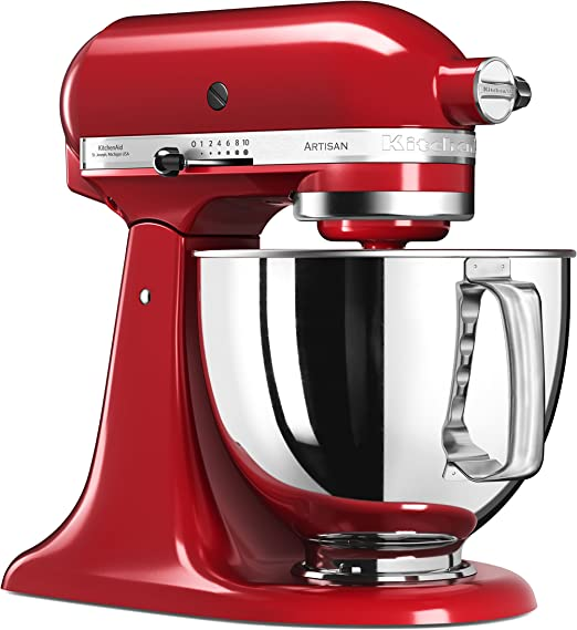 KitchenAid 5KSM125 EER Artisan 5KSM125EER-Robot de Cocina, tazón de 4.8 L, Color Rojo, 300 W, 4.8 litros, 52 Decibelios, Kaiserrot: Amazon.es: Hogar