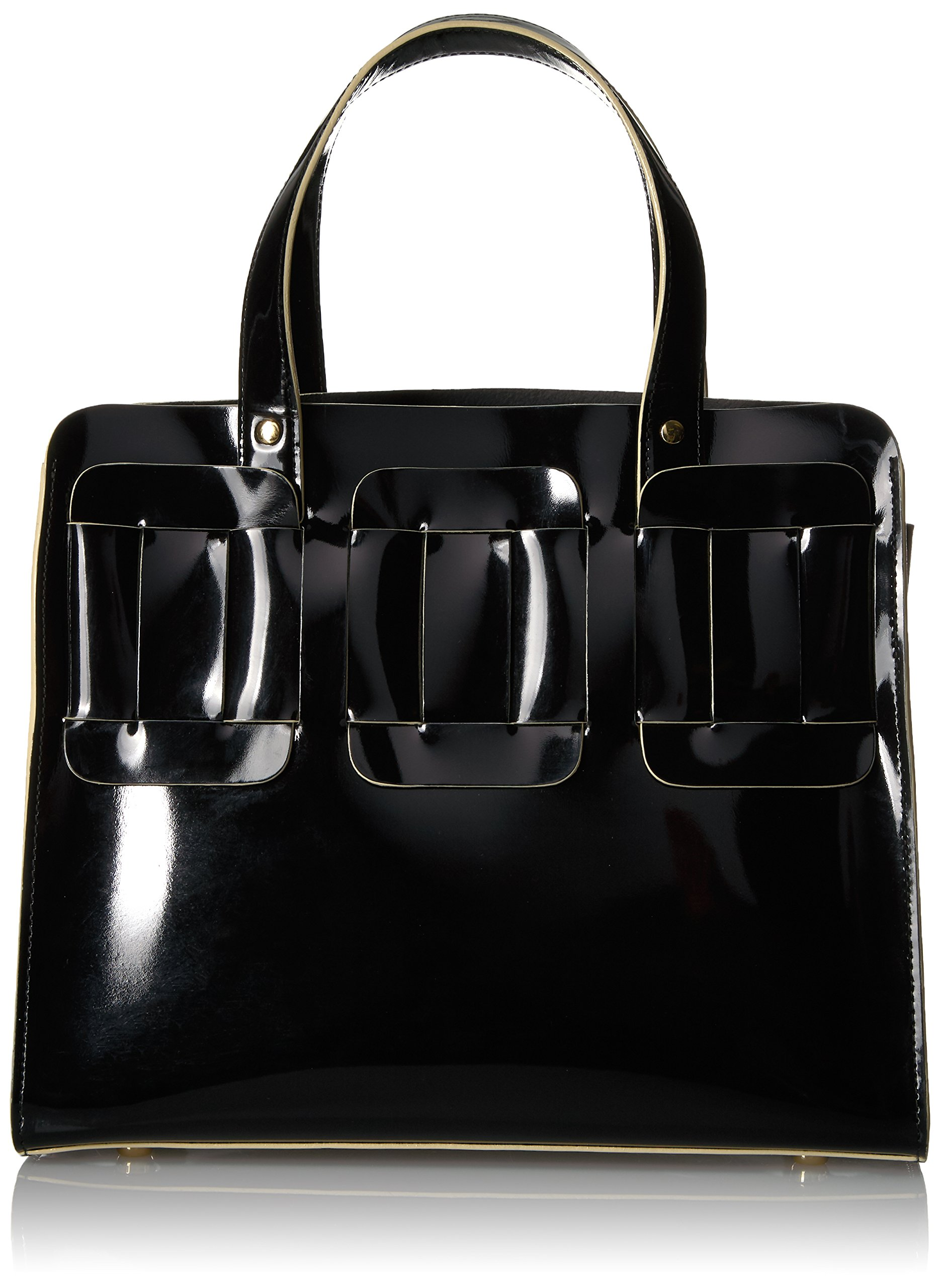 Orla Kiely Glass Leather Linked Margot, Black by Orla Kiely