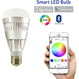 Flux Bluetooth Smart LED Light Bulb - Smartphone Controlled Dimmable Color Changing Light Bulb for Apple iPhone, iPad, Apple Watch, Android Phones and Tablets 10